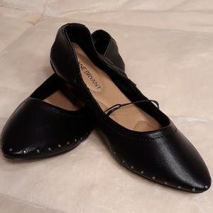 LANE BRYANT BLACK BALLET FLATS SZ 8